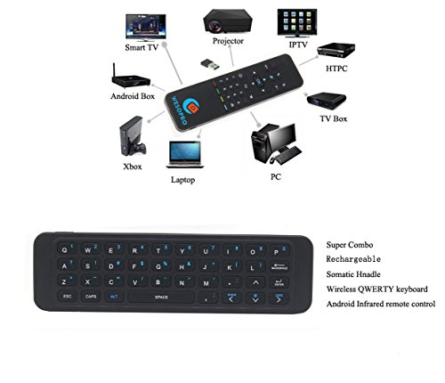 Rechargeable P3 2 4GHz wireless air remote mouse with QWERTY