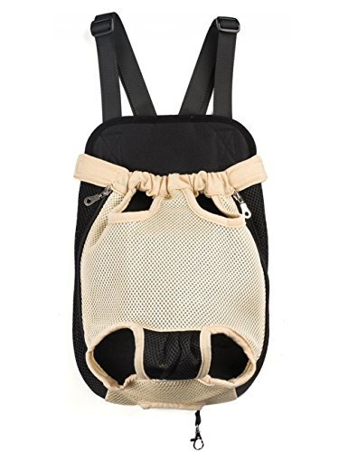 kuoser-mesh-pet-travel-bags-dogs-cats-legs-out-front-carriers-hands-free-adjustable-portable-outdoor
