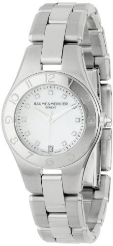 Baume & Mercier Women's 10011 Linea Mother-of-Pearl Diamond Dial - Et Bracelet Baume Mercier Crystal