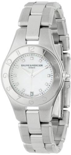 Baume & Mercier Women's 10011 Linea Mother-of-Pearl Diamond Dial Watch (Linea Womens Watch)