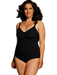 Plus Size Seamless Lift & Smooth Underwire Bodysuit Shaper in Black