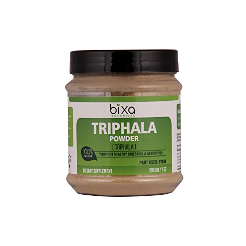 (Triphala Powder (Haritaki, Bibhitaki & Amla) for Healthy Digestion & Absorption | Anti-Oxidant Herbal Supplement & Blood Purifier | Externally Useful for Strengthening The Hair Roots (200g / 7 Oz))
