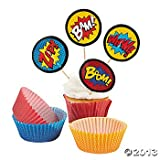 Kyпить Superhero Cupcake Picks and Baking Cups / Liners на Amazon.com