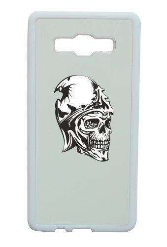 """Smartphone Case Apple IPhone 7 """"Totenkopf Kopf platzt riss im Kopf und Krone Skelett Schädel Gothic Biker Skull Emo Old School"""" Spass- Kult- Motiv Geschenkidee Ostern Weihnachten"""
