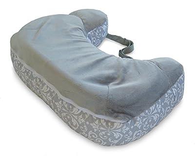 Boppy Two-Sided Breastfeeding Pillow, Kensington/Gray
