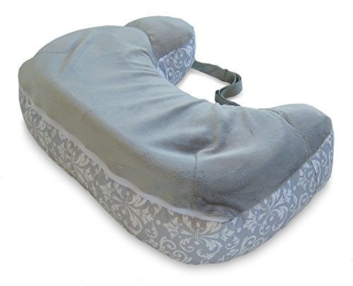 Boppy Best Latch Breastfeeding Pillow, Kensington Gray, Two-Sided Nursing Pillow