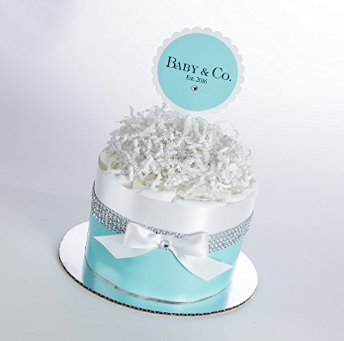 The Baby & Co. Mini Diaper Cake. Baby Shower Gift or Centerpiece. by Sassy and Sweet Boutique
