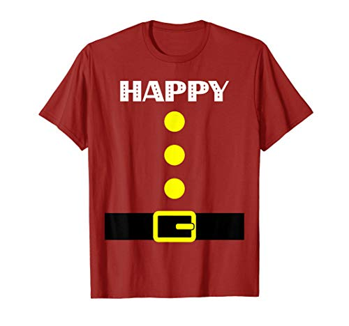 Happy Dwarf Costume T-Shirt - Halloween Gift Idea -