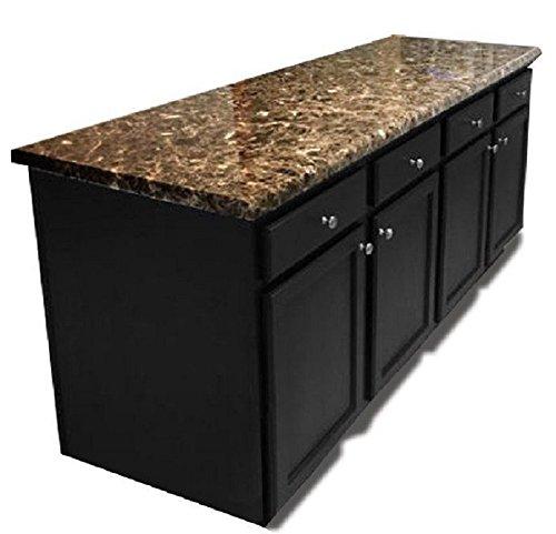 Granite Countertop Paint ? NO! : Peel and Stick Dark Emperador Marble Granite Counter Top No Paint Alernative 36