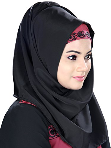 MyBatua schwarz gestickte muslimische Party & formale Abnutzung abaya burqa Kleid AY-408 ulu1hsWRgp