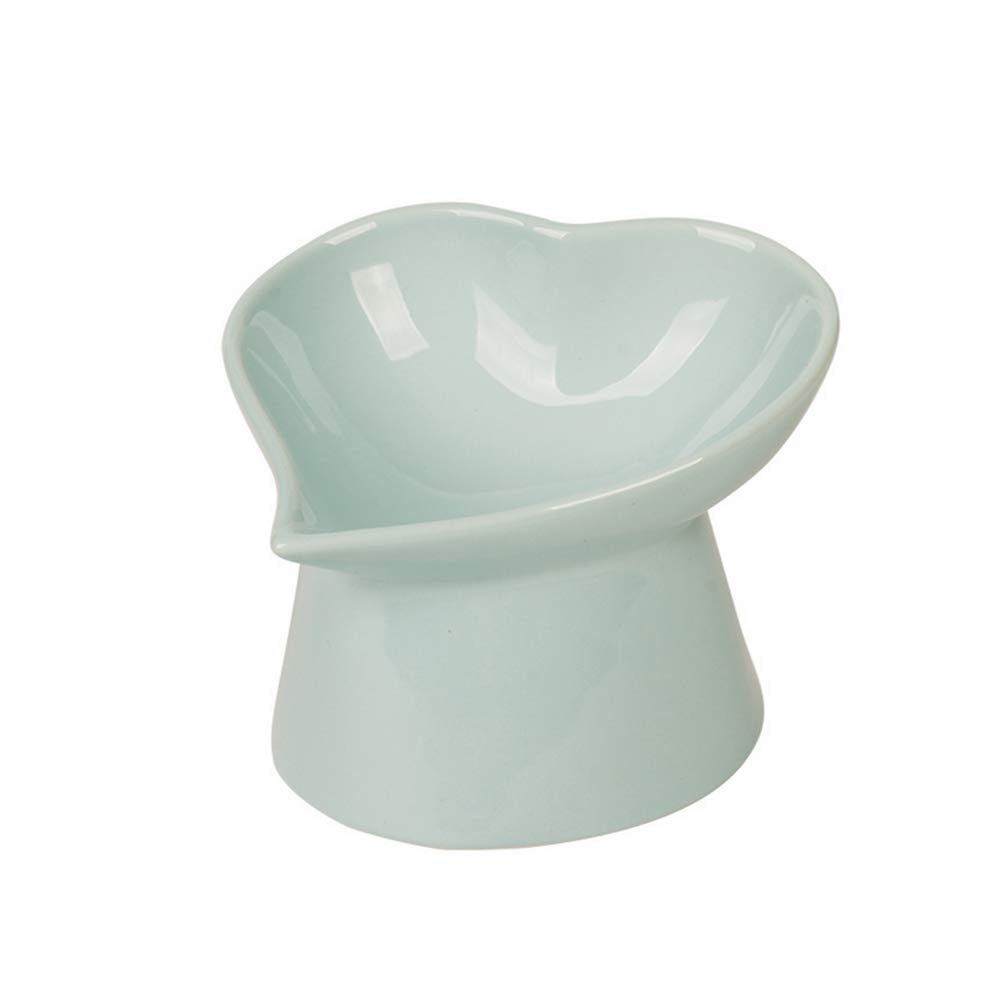 bluee High Quality Ceramic cat Bowl Solid Resistant Fall cat Food Bowl Water Bowl Elevated cat Bowl Ceramic cat Feeding Bowl pet,bluee