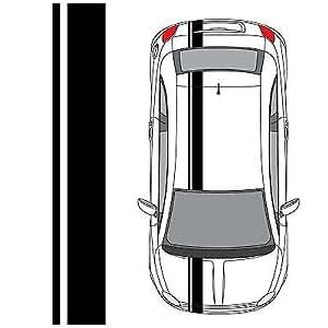 Amazon.com: Fiat 500 Single Offset Rally Racing Stripes