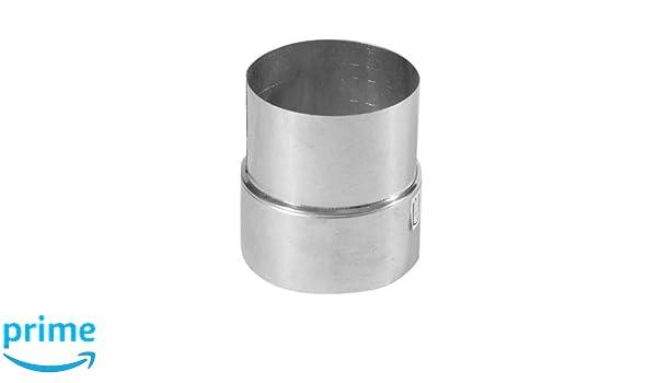 Kamino - Flam - Adaptador de reducción para tubo de chimenea (120/130 mm, acero), Tubo reducción estufa, Reductor tubo escape, Chimenea reducción EN 1856-2 ...