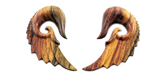 Sono Wood Organic Earrings (Bandaru Organics Sono Wood Feathered Wing)
