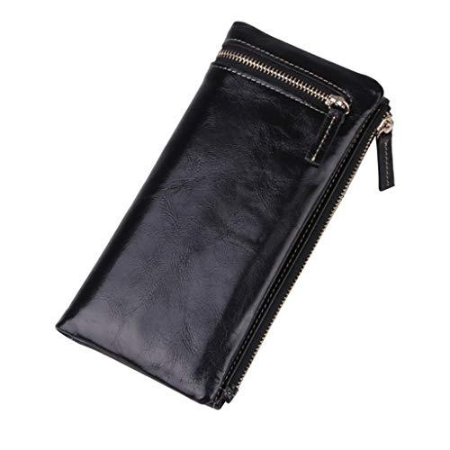 Rfid Donna vintage Lock colore Portafogli a Design tracolla Grande Borsa pelle 4 capacità in YHw64qxxB