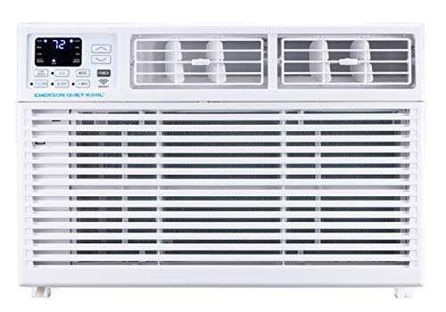 Emerson Quiet Kool Smart 15,000 BTU 115V Window Remote, Wi-Fi, and Voice Control, EARC15RSE1 Air Conditioner, White (Air Conditioner Window Quiet)