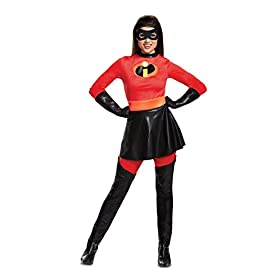 Disguise Women's Mrs. Incredible Skirted Deluxe Adult Costume