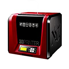 The XYZprinting da Vinci Jr. 1.0 Pro. Is a compact 3D printer for professionals, the da Vinci Jr. 1.0 Pro is compatible with 3rd party 1.75mm PLA filament and has adjustable temperature settings for the extruder nozzle.