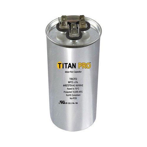 TITAN PRO Packard TRCFD407.5 40+7.5MFD/440/370VAC/RND Capacitor by TITAN PRO