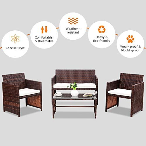 patio, lawn, garden, patio furniture, accessories, patio furniture sets,  conversation sets 10 picture Goplus Rattan Sofa Furniture Set Outdoor Garden Patio in USA