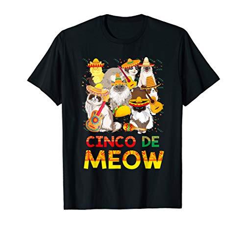 Ragdoll Cinco de Meow T-Shirt Cinco de Mayo Party -