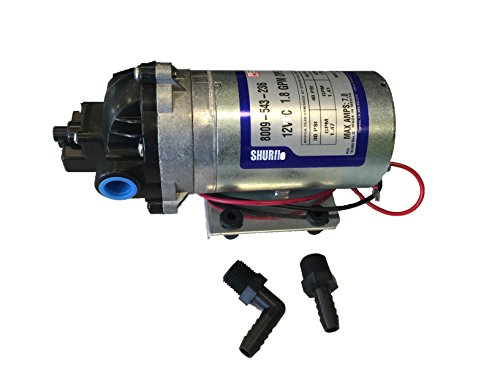 Pentair SHURflo 8009-543-236 Auto-Demand 12V Spraying Diaphragm Pump, 1.8GPM, Viton Valves, Santoprene Diaphragm, 60PSI, 3/8
