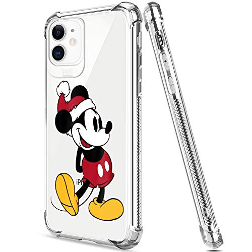 DISNEY COLLECTION iPhone 11 Case 2019 6.1 Inch Christmas Mickey Soft Flexible TPU Ultra-Thin Shockproof Transparent Bumper Protective Cover Case (Iphones Christmas 2019 For)
