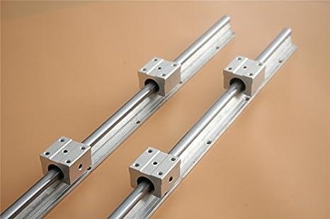 4x SBR20UU Slide Block Bearing Linear Rail 2x SBR20 1200mm Linear Rail