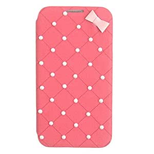 Elegant Bowknot Leather Case for Samsung Galaxy S4 I9500(Assorted Color) --- COLOR:White