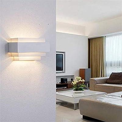 Luz de pared Luz de pared interior del cubo del aplique de iluminación de la escalera accesorio de la lámpara 3000K LED 5W Moderno para sala de estar Dormitorio Pasillo (Color :