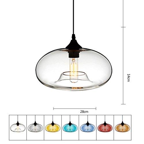 Lampe Suspension Plafond Lustre En Verre Creative Personnalité E27 Plafonnier Restaurant Restaurant Cafe Bar Décoration Lustres (Couleur   K, Conception   Marron)