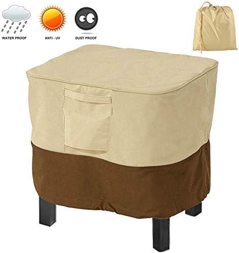 家具カバー ファニチャー パティオオスマン表カバー長方形防水420Dヘビーデューティパティオサイドテーブルストレージバッグ(ベージュ+コーヒー、* 51 * 43センチメートル66)ガーデン家具プロテクターカバー ガーデン 庭用保護カバー シャンボ14011 (Color : 79*79*43cm, Size : Beige+Coffee)