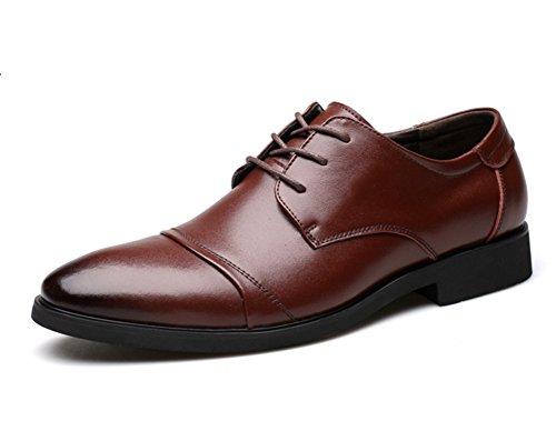 xie hommes d'été des chaussures habillées des hommes Les chaussures occasionnels des hommes des hommes en cuir chaussures bout rond chaussures 38-43 brown CqjmE