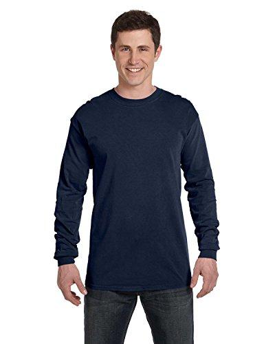 Comfort Colors 6014 Adult Heavyweight Ringspun Long Sleeve T-Shirt - True Navy - ()