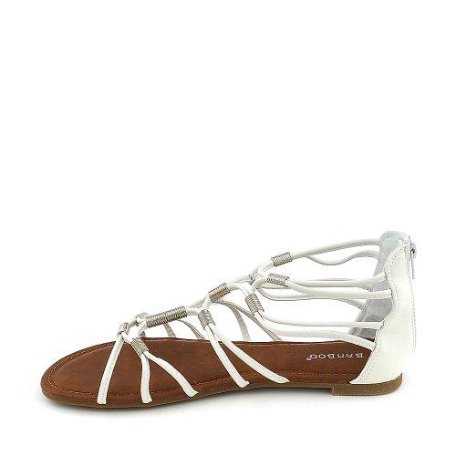 Sandalo Da Donna In Bambù Fifi-01 Bianco