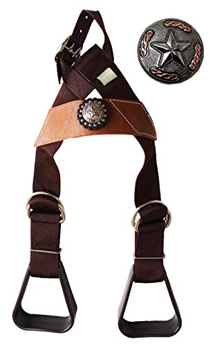 CHALLENGER Horse Saddle Western Kids Child Youth Pony Buddy Stirrups w/Concho 5138CO548