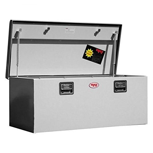 (RKI M45-1NM Single Lid Steel Chest Tool Box for Sportside & Medium Size44; White)