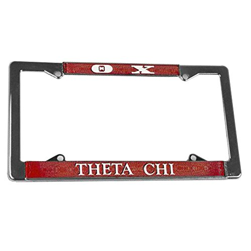 (Greekgear Theta Chi Chrome License Plate Frames)