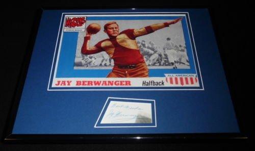 Jay Berwanger Signed Framed 11x14 Photo Display Maroons 1st NFL Draft Pick