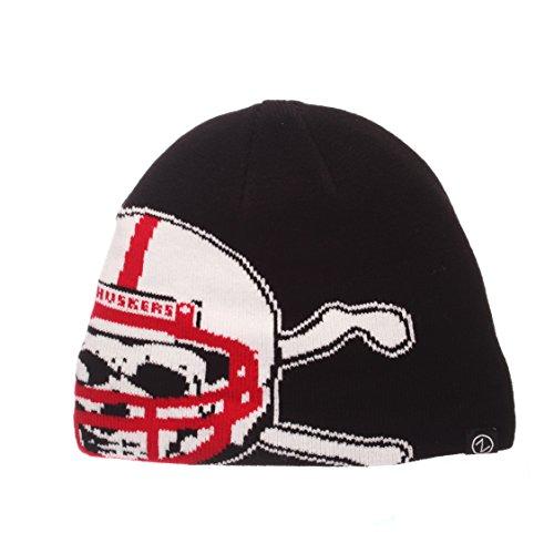 Zephyr NCAA Nebraska Cornhuskers Youth Peek Knit Beanie, Adjustable, Team Color ()
