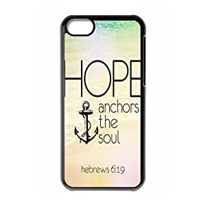 fashion case Hot cell phonecase, Bible Verse - We Have This Hope As an Anchor for the Soul Hebrew 6:19 Theme for black 9iOT3qsDiKM plastic iphone 4s case cover
