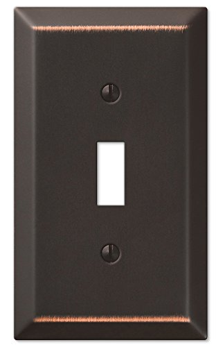Amerelle Century Single Toggle Steel Wallplate in Aged Bronze