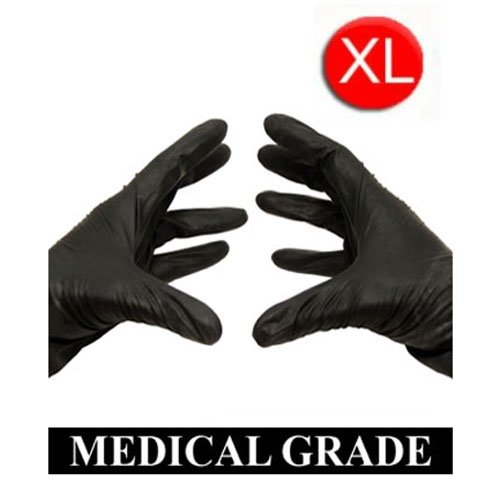 1000/Case Disposable Powder-Free Black Nitrile Medical Exam Gloves (Latex Free) Size-XLarge 5 Mil