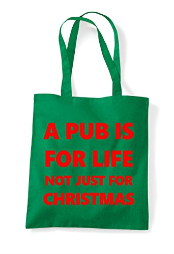 A Green Is Bag Pub Tote Not Just Life Christmas For CZxvCq6wcT