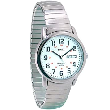 amazon com timex mens indiglo low vision watch exp band beauty timex mens indiglo low vision watch exp band