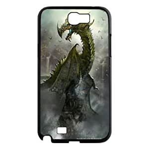 For Samsung Galaxy Note 2 Case Flying Dragon Pattern Protective Back Case-Style-5