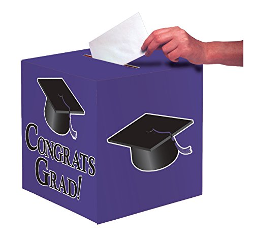 Creative Converting Congrats Holder Purple