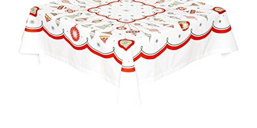 (The Red & White Kitchen Co. Christmas Ornaments Vintage Inspired Tablecloth)