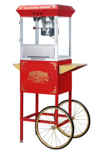 Great-Northern-Popcorn-6010-Roosevelt-Top-Antique-Style-Popcorn-Popper-Machine-8-Ounce