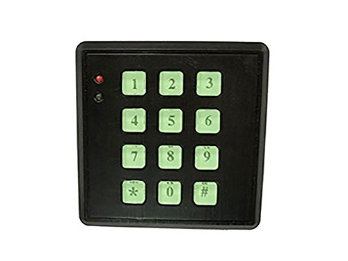 SABRE HS-FSKP Fake Security Key Pad with Built-in Low Light Sensor - Realistic Fake Security System Design with Backlit Light-up Key Pad and Flashing Red LED Light, Easy to Install - Black by SABRE